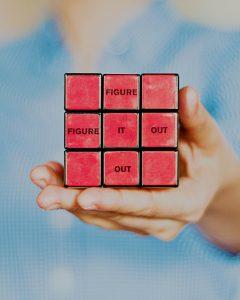 hand holding rubiks cube